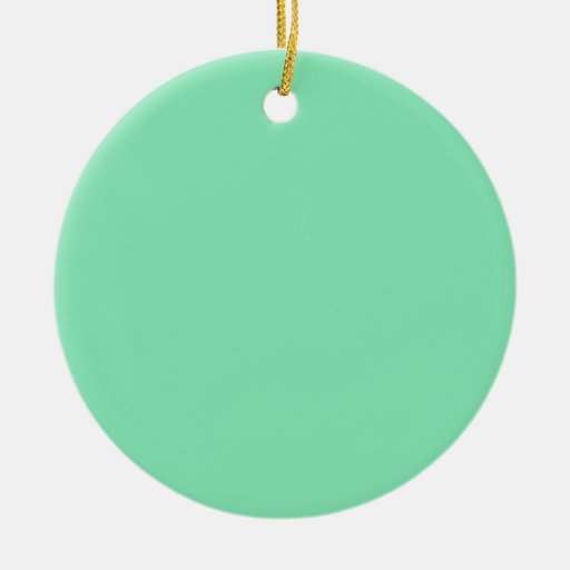 Mint Green Background on an Ornament