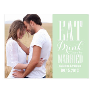 Mint Green Be Married Save The Date Postcard