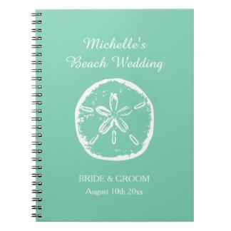 Mint green beach wedding organizer planner book notebook