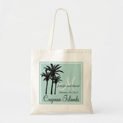Mint Green Beach Wedding Palm Trees Bags