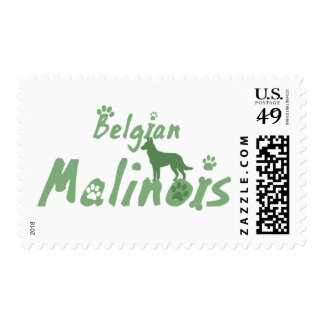 Mint Green Belgian Malinois Postage Stamps