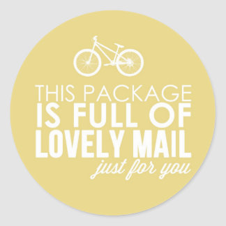 Mint Green Bicycle Lovely Mail Packaging Sticker
