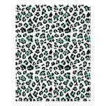 Mint Green Black Leopard Animal Print Pattern Flyers