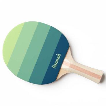 Mint Green Blue Name Full Print Ping Pong Paddle