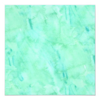 Mint Green Blue Watercolor Texture Pattern Card