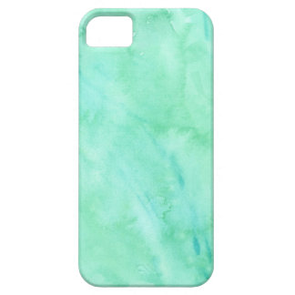 Mint Green Blue Watercolor Texture Pattern iPhone SE/5/5s Case