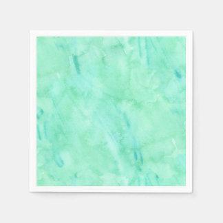 Mint Green Blue Watercolor Texture Pattern Paper Napkin