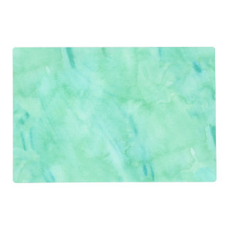 Mint Green Blue Watercolor Texture Pattern Placemat