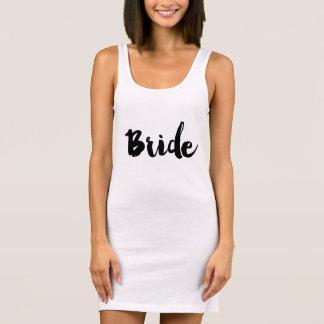 Mint Green Bride Hand Lettered Dress