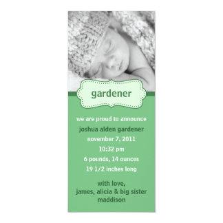 Mint Green Bundle of Joy Photo Birth Announcements