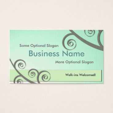 Professional Business Mint Green Business & Appointment Card