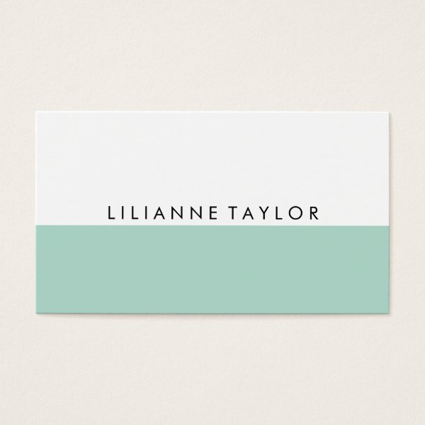 Mint Green Business Card
