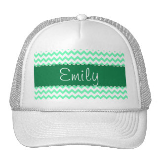 Mint Green Chevron Trucker Hat