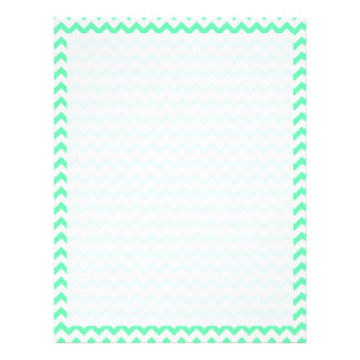 Mint Green Chevron Letterhead