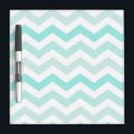 "Mint Green Chevron Ombr&#233; Dry Erase Board<br><div class=""desc"">Soft shade of mint green for your dry erase board.</div>"
