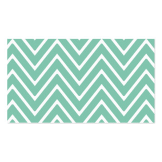 Mint Green Chevron Pattern 2 Double-Sided Standard Business Cards (Pack Of 100)