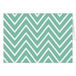 Mint Green Chevron Pattern 2 Card