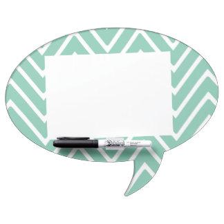 Mint Green Chevron Pattern 2 Dry Erase Board