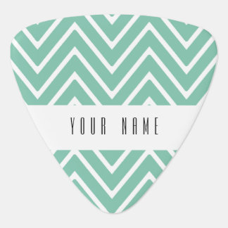 Mint Green Chevron Pattern 2 Guitar Pick