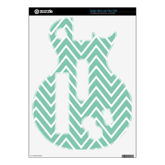 Mint Green Chevron Pattern 2 Guitar Hero Skins