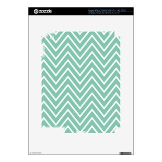Mint Green Chevron Pattern 2 iPad 3 Skin