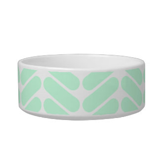 Mint Green Chevron Pattern, like Knitting. Bowl