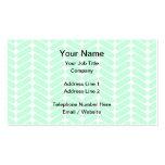 Mint Green Chevron Pattern, like Knitting. Business Card Template