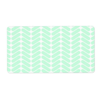 Mint Green Chevron Pattern, like Knitting. Label