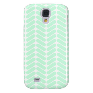 Mint Green Chevron Pern, like Knitting. Samsung Galaxy S4 Case