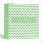 Mint Green Chevron Vinyl Binders