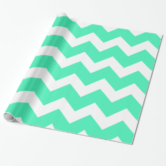 Mint Green Chevron Wrapping Paper