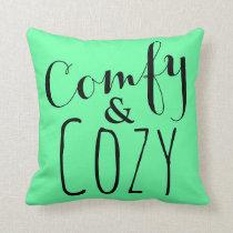 Mint Green Chic Home Decor Modern Fun Throw Pillow