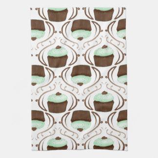 Mint Green Chocolate Cupcakes Hand Towel