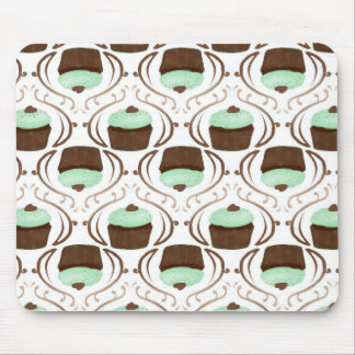 Mint Green Chocolate Cupcakes Mouse Pad