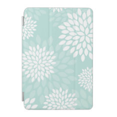 Mint Green Chrysanthemums Floral Pattern Ipad Mini Cover at Zazzle