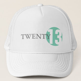 Mint green circle modern classic 2013 or year hat