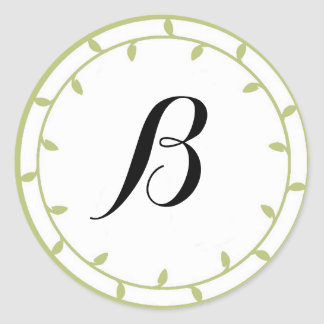 Mint Green Colored Monogram Stickers