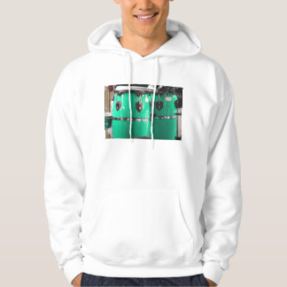 Mint green conga drums photo.jpg hooded pullover