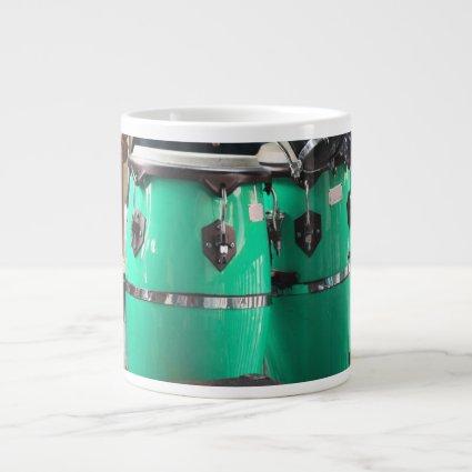 Mint green conga drums photo.jpg jumbo mug