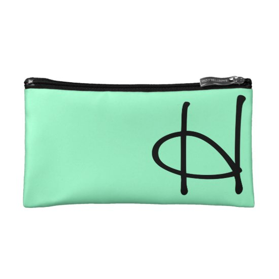 Mint Green Cosmetic Bag, Makeup Case