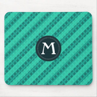 Mint Green - Custom Monogram Mousepad