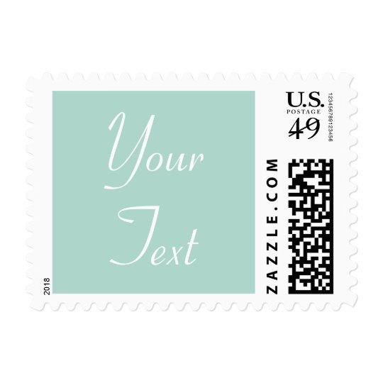 Mint Green Custom Wedding Postage Stamp with Text
