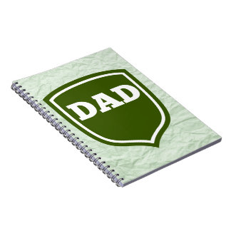 Mint Green Dad Plaque Note Book