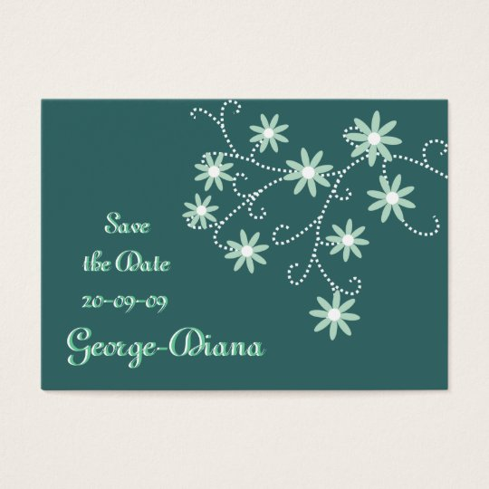 Mint Green Daisies Affordable Save the Date Cards