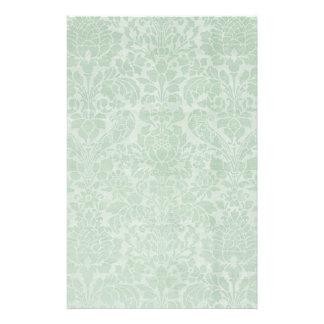 Mint Green Damask Extra Sheets Stationary Stationery