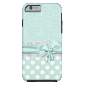 Mint Green Damask iPhone 6 case