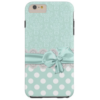 Mint Green Damask iPhone 6 Plus case