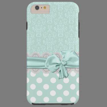 Mint Green Damask iPhone 6 Plus case