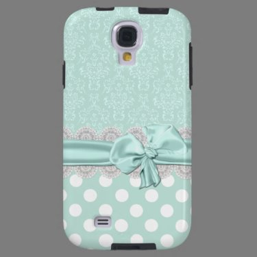 Mint Green Damask Samsung Galaxy S4 Phone Case Galaxy S4 Case