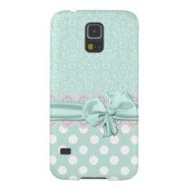 Mint Green Damask Samsung Galaxy S5 Phone Case